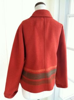 Anne Klein New York Angora Wool Blend Southwest Stripe Jacket Coat L