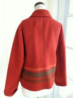 Anne Klein New York Angora Wool Blend Southwest Stripe Jacket Coat L