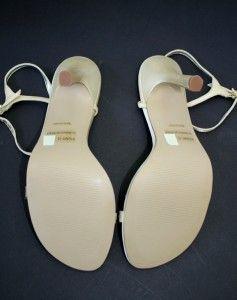 Anne Michelle 7 Gold Satin 4 Heels Shoes Rhinestones Strappy