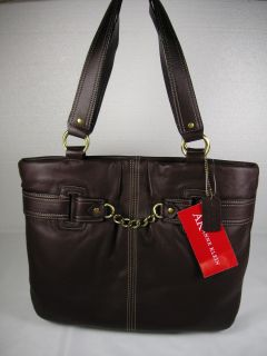 Anne Klein Womens Handbag 31SAD64AKUX Black Leather