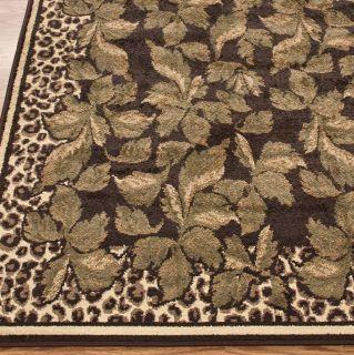 Area Rugs Animal Prints Leopard Print Fauna Brown 5x7
