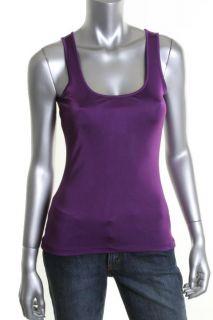 Anne Klein New Purple Scoop Neck Sleeveless Tank Top Shirt M BHFO