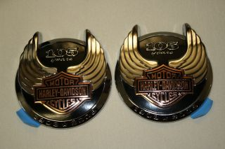 New 105th Anniversary Harley Davidson Tank Emblems