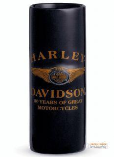 Harley Davidson 110th Anniversary Ceramic Cordial Shot Glass Genuine