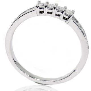 35ct Diamond Wedding Ring Anniversary Band 14k White Gold Round Cut