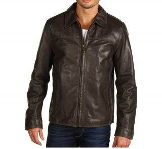 Marc New York by Andrew Marc Anson Leather Jacket Anthracite LRG XL