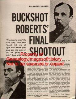 Texas Ranger History of Andrew L Buckshot Roberts