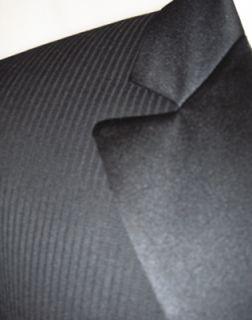 Andrew Fezza Black Pinstripe Tuxedo Jacket 40R FreeShip