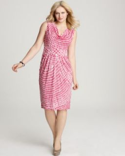 Anna Scholz New Pink Pattern Cowl Neck Sleeveless Knit Casual Dress