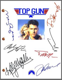 Signed Movie Script by 7 Tom Cruise Val Kilmer Anthony Edwards