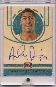 Anthony Davis 12 13 Panini Threads Auto RC on Card Wood