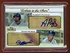 Albert Pujols Stan Musial 2011 Topps Tribute Dual Auto Autograph 74