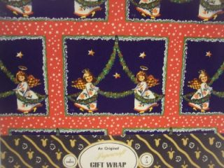 PACKAGE OF PAPERCRAFT XMAS GIFT WRAP WRAPPING PAPER ANGELS TREE STAR