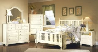 Vaughan Bassett Cottage Antique White Queen Bedroom Set