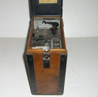 WW1 Signal Corps U.S. Army wood field phone model 1917 by Kellogg