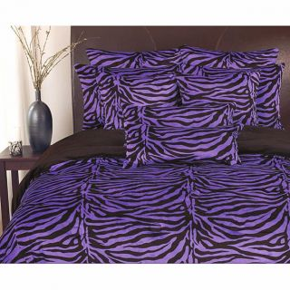 and Black Zebra Print Super Soft Microfiber Comforter Set Queen