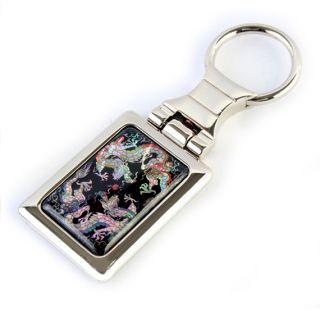 Dragon Charm Design Mens Keychain Key Ring Fob Keyring Holder