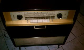 Grundig Vintage Antique German Tube Radio and Turntable