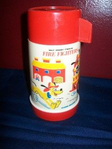 Vintage Walt Disney Character Fire Fighters Thermos Aladdin Industies