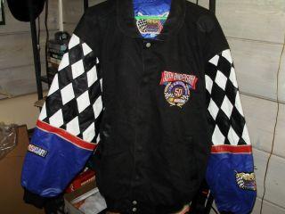 NASCAR 50th ANIVERSARY JEFF HAMILTON XXL MENS JACKET WITH LEATHER