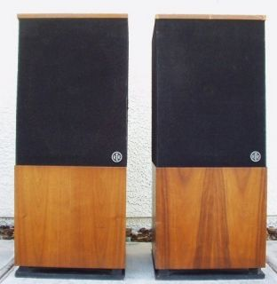 Huge Vintage RTR 280 DR Walnut Veneer Floor Standing Speakers