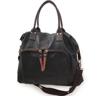 Anthony New Womens Black Hobo Bag Tote Shoulder 1701
