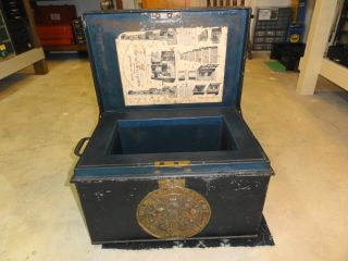 Antique Strong Box Safe English Maker Milner IDd Safe Circa 1850