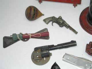 10 Antique Toy Parts Cast Iron Plus Truck Tailgate