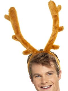 Horns Christmas Party Fancy Dress Costume Reindeer Antlers