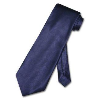 Antonio Ricci Necktie Solid Navy Blue Mens Neck Tie