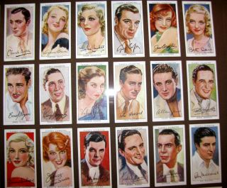 1938 Players Cigarette Cards Famous Men Women Actors Actresses Movie