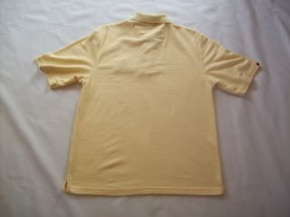 Antigua SFW Yellow Polo Shirt with Elk Logo Mens Medium