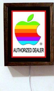 Apple Computer Authorized Dealer Sales Service Parts Poster Light