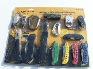 Appalachian Trail 25 Piece Knife and Multipurpose Tool Set 0362359