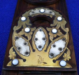 Antique Sliding Bookends Wood Wooden Book Ends Vintage Victorian