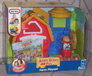 Little Tikes Apple Grove Pals Farm Playset w Story Book