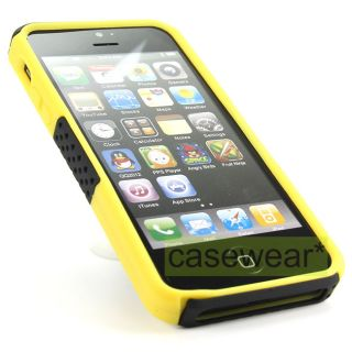 Black Yellow Apex Perforated Hard Case Cover for Apple iPhone 5