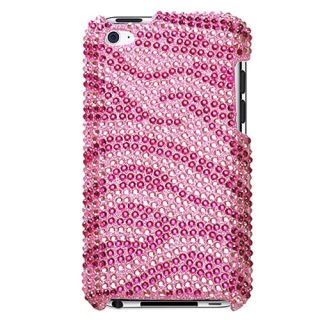 Zebra Pink Bling Rhinestones Protector Cover Case for Apple iPod Touch
