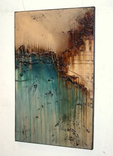 Contemporary Painting 48x30x1 5 Modern Abstract Ready to Hang