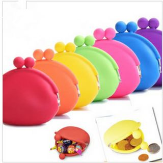 Girl Lady Silicone Coin Purses Pouch Wallet Card Rubber Bag Key Holder
