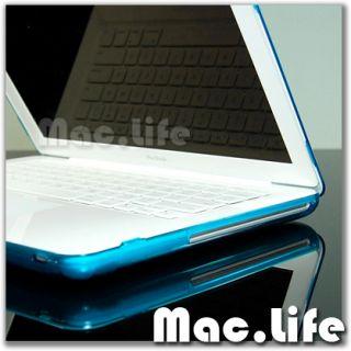 Aqua Blue Crystal Hard Case Cover for MacBook White 13