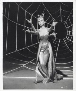 Anne Francis Orig Still Glamour Shot w Spider Web Two Sets of Hands