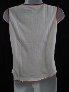 Anya Hindmarch White Sleeveless Tank Shirt Top Size 46