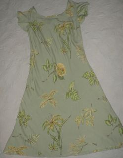 April Cornell Womens Vacation Dress Flair Skirt Scoup Neck Lilly Rose