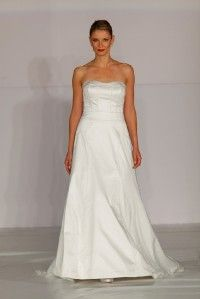 Anne Barge La Fleur LF200 Ivory Silk New Strapless Bridal Wedding