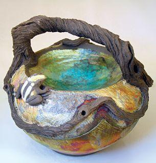 Carved Copper Matte Frog Pond Wirecut Jewelry Box Corvusmoon 2