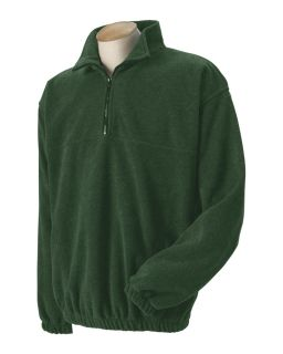 Harvard Square Mens Quarter Zip Pullover Fleece Jacket HS148