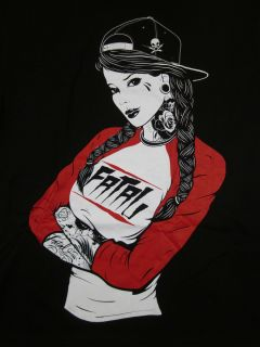 Fatal Clothing Snapback T Shirt Fatal Tattoo Art Tee Adult Mens Shirt
