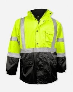 Reflective ANSI Safety Thinsulate Parka Warm Jacket HIV