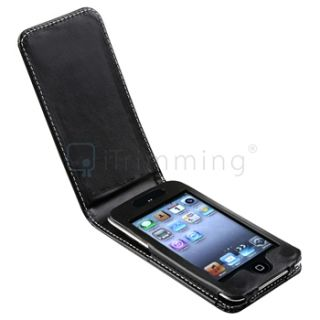 New Black Leather Case for Apple iPod Touch 4G 4th Gen